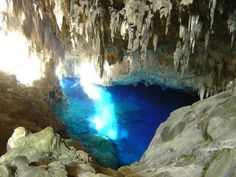 Gruta do lago azul - Bonito/Brasil Blue lake cave in Bonito/Brazil The Places Youll Go, Great Places, Places To See, Amazing Places, Beautiful Places To Visit, Science And Nature, Vacation Trips, Vacations, Wonders Of The World