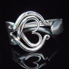 Recycled Silverware Jewelry Silver Fork Bracelet by MarchelloArt