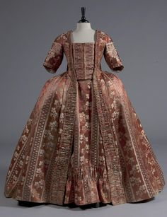 Robe a la francaise, ca. 1770.  From Kerry Taylor Auctions.