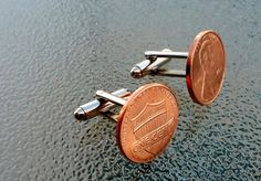 Penny Cufflinks - great idea to commemorate a wedding!