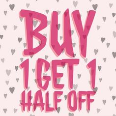 Buy One Get One Half Off Sale!!! Hurry and get your last winter must haves before it's too late! Purchase an item and get half off a second item of equal or lesser value! Other