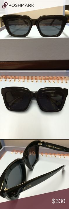Celine Sunglasses These are in style CL 41023/S. My favorite pair, but now looking to buy a different style. In great condition. Quality is amazing. Authentic Celine. No case, will provide a temporary case for shipping. Wayfarer style. Classic and chic. Celine Accessories Sunglasses