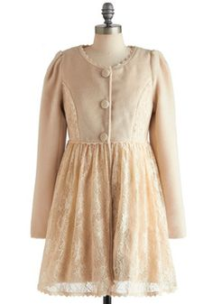 Your First Lace Coat, #ModCloth. So pretty!
