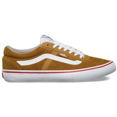 Vans AV RapidWeld Pro ($80) ❤ liked on Polyvore featuring men's fashion, men's shoes, men's sneakers, yellow, mens yellow shoes, vans mens shoes and mens lace up shoes