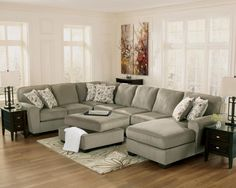 """With a stylish contemporary design and numerous modular pieces to create unlimited set-up options to fit within any living area, the """"Patola Park-Patina"""" upholstery collection offers soft upholstery fabric surrounding plush supportive cushions to give you comfort as well eye-catching beauty."""