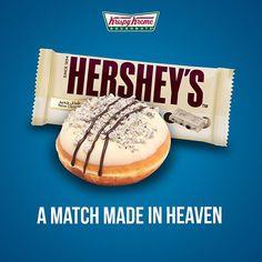 Hershey's Cookies 'n'Creme... heaven in your hand   #hersheys #cookiesncreme #krispykreme #doughnuts #heaven #chocolate #whitechocolate #food #foodstagram #foodporn