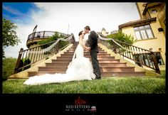 The beautiful couple at Bella Collina Mansion in Stokesdale, NC