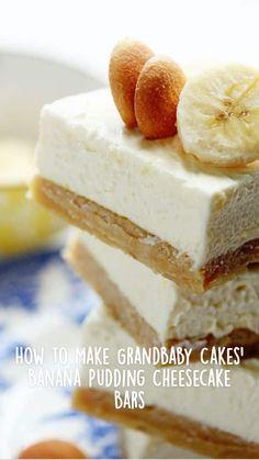 Banana Dessert Recipes, Easy Desserts, Cookie Recipes, Delicious Desserts, Easy Dessert Bars, Bar Recipes, Banana Pudding Cheesecake, Cheesecake Bars, Cheesecake Recipes