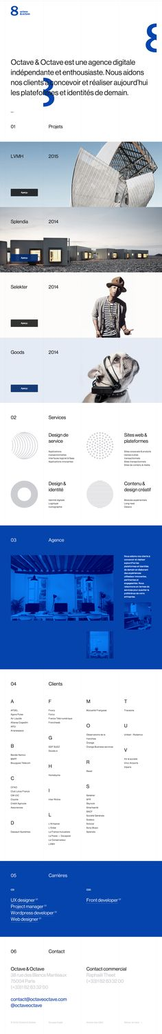 Clean Web Design Layout #WebDesign // http://www.octaveoctave.com/