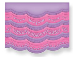 Spellbinders - Borderabilities Collection - Die Cutting and Embossing Template - A2 Scalloped Borders One