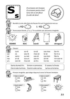 Preschool Worksheets, Preschool Activities, Romanian Language, Paper Trail, Montessori Toddler, Math For Kids, School Lessons, Kids Education, Phonics