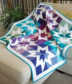 The Modern Aurora Borealis Quilt  A digital quilt pattern from Susie Ledadom of Loganberry Handmade