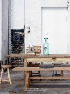 raw natural wood table