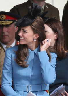Catherine, Duchess of Cambridge smiles as she attends the 70th anniversary of the D-Day landings on June 6, 2014 in Arromanches Les Bains, France. Friday 6th June is the 70th anniversary of the D-Day