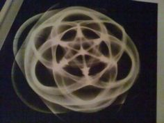 6 point star tetrahedral Cymatic image created by sending sound through 1-2mm of water.