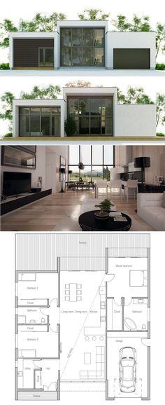 Plan de Maison barn house Pinterest House, Architecture and - plan de maison design