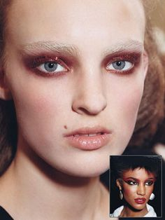 crazy eye makeup at Prada and Marc Jacobs's
