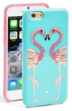 Jeweled flamingo case #katespade