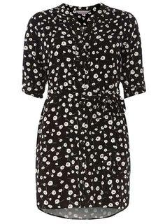 Petite Daisy Ruffle Shirt Dress - Dorothy Perkins