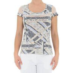 Blusa em Malha de Viscose Estampada com Decote Redondo - Del Carmen By Sarruc.