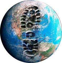 """Todos os dias deixamos marcas na Terra. Assim como a água q está no rio nunca mais será a mesma, as pegadas q a humanidade deixa no planeta marcam a sua história p sempre. P isso, existe um termo chamado Pegada Ecológica, que, segundo o sítio do WWF, é uma """"metodologia de contabilidade ambiental q avalia a pressão do consumo das populações humanas sobre os recursos naturais"""". O estudo """"permite comparar diferentes padrões de consumo e verificar se estão dentro da capacidade ecológica"""