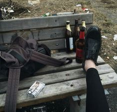 [open] || Allison || I sit on the bench at a park. No one else went to this park so I wasn't worried. It was after school, and everyone was leaving. I had left a few minutes early so I could get to my spot. I pulled out a few bottles of beer, and a pack of cigarettes. I sigh, and lean back. I closed my eyes, but opened them when I heard you say..
