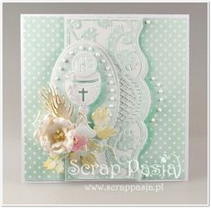 First Communion Cards, Big Shot, Baby Cards, Christening, Handmade Cards, Frame, Card Ideas, Crafting, Scrapbooking