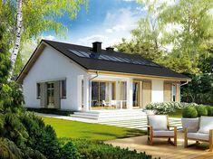 Projekt domu Rafael III 95,56 m2 - koszt budowy 192 tys. zł - EXTRADOM Home Design Diy, Unique House Design, Build My Own House, Building A House, Model House Plan, Village House Design, Pool House Designs, Simple House Plans, House Wiring