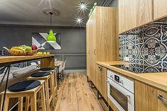 cozinha com cooktop elétrico