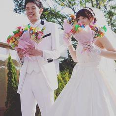 全員参加型ということと、ゲストに既婚者が多かったのもあり お菓子ブーケトス♡