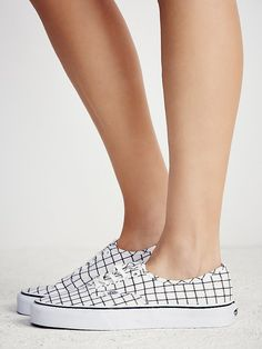 Vans Authentic Grid Low Top Sneaker at Free People Clothing Boutique