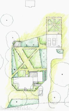 """Crisp Angles"" landscape design explores perspective and direct paths: Home Outside Design, online landscape design service"
