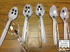 Subitizing Spoons! Easy and cheap way to build number sense