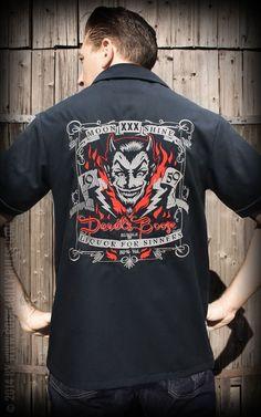 Worker Shirt - Devil's Booze by Rumble59   Rockabilly - 50s Style