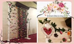 Flowers curtain by Event Deco. Find us on Facebook, Event.Deco.page! Find Us On Facebook, Anniversary Parties, Christening, Floral Wedding, Romantic, Curtains, Shower, Party, Prints