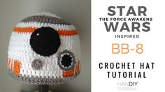 Star Wars: The Force Awakens inspired BB-8 Crochet Hat Tutorial. Free Pattern. Easy step by step tutorial.