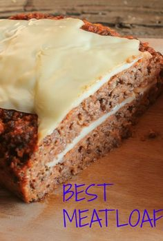 Best Meatloaf, the only meatloaf recipe you need. So delicious and tasty. perfect out of the oven or sliced cold in sandwiches. Made with healthy ingredients and so cheesy! Good Meatloaf Recipe, Best Meatloaf, Meatloaf Recipes, Pork Recipes, Cooking Recipes, Cheesy Meatloaf, Italian Meatloaf, Cooking Meatloaf, Meatloaf Muffins