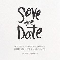 Ink Save The Date - Paperless Post Black And White Wedding Invitations, Beautiful Wedding Invitations, Custom Wedding Invitations, Modern Invitations, Unique Save The Dates, Wedding Save The Dates, Save The Date Cards, Save The Date Designs, Save The Date Templates