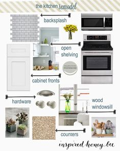Inspired Honey Bee: home: kitchen renovation phase 3 inspiration board shaker cabinets @homedepot