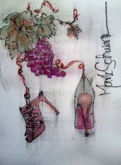 Grapevine...watercolor by Mark Schwartz