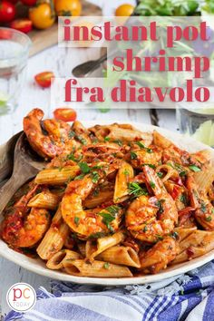 This healthy Shrimp Fra Diavolo is paleo and gluten free AND a one-pot, no-thaw meal. Dinner time doesn't get any tastier or easier than this! #PressureCookingToday #InstantPot #instantpotshrimppenne #easyshrimpdinner #pressurecookershrimpfradiavolo Instant Pot Dinner Recipes, Delicious Dinner Recipes, One Pot Meals, Easy Meals, Potted Shrimp, Pressure Cooking Today, Spicy Tomato Sauce, Nutritious Breakfast, Dinner Entrees