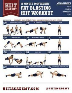 18 Minute Bodyweight Fat Blasting & Muscle Shredding HIIT Workout For Men And Women Do you track your workouts? Visit for activity trackers and fitness wearables. Full Body Workout Plan, Flat Abs Workout, Workout Plan For Men, Workout Plan For Beginners, Body Workout At Home, Workout Plans, Workout Routines, 300 Workout, Leg Routine