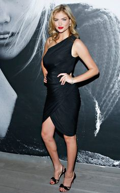 When you look like Kate Upton, is anyone even looking at the little black dress?! #fashion