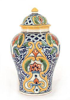 Talavera ginger jar