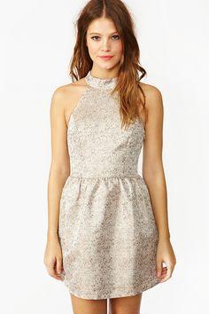 Metallic Splatter Dress