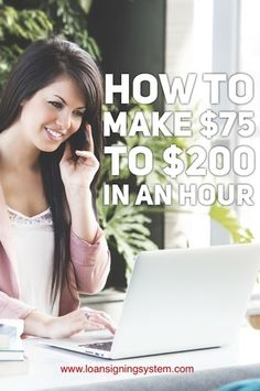 Did you know that there's a way to make $75 to $200 in about an hour's worth of time, working for yourself, part-time, and on your own schedule? Re-pin and click www.loansigningsystem.com to find out how you can make money this week as a notary public loan signing agent.