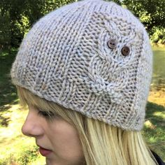 58481ef296c92 Owl Beanie 4 sizes Knitting pattern by The Lonely Sea - Heather C Knit  Beanie Pattern