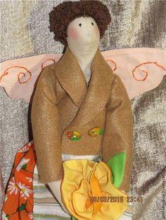 Купить Тильда Садовый Ангел - оранжевый, ангел, ангел тильда, садовый ангел