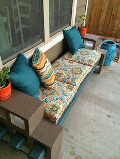 Aus Steinen können Sie die schönsten Bänke für den Garten oder Balkon bauen! Nummer 5 möchte ich diesen Sommer haben! - DIY Bastelideen
