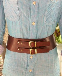 Classic,womans wide leather belt, elegant and pure in design. It's one of a kind.